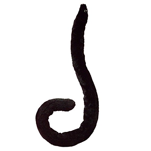 E-TING Sexy Cat Tail Long Fur Neko Anime Cosplay Party Costume Lady Girls (Black tail) -