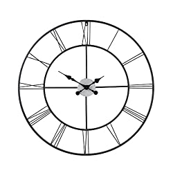 Centurian Decorative Large Wall Clock - Roman Numerals - Classic Numeral Design