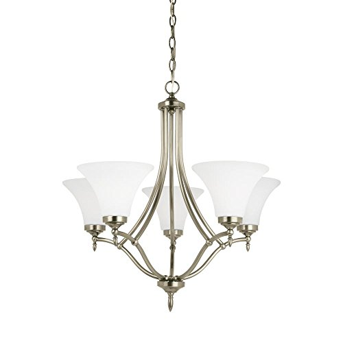 Montreal 5 Light Chandeliers (Sea Gull Lighting Montreal Antique Brushed Nickel Energy Star Five-Light LED Chandelier)
