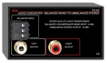 TX-A2 - Balanced to Unbalanced Audio Converter RADIO DESIGN LABS 555-18932