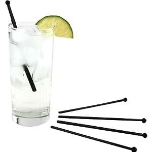 "6"" Flat Plastic Cocktail Stir Rods: Box of 500"