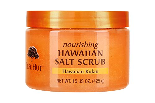 Tree Hut Nourishing Hawaiian Salt Scrub Hawaiian Kukui, 15oz, Ultra Hydrating and Exfoliating Scrub for Nourishing Essential Body Care (Pack of 3) ()