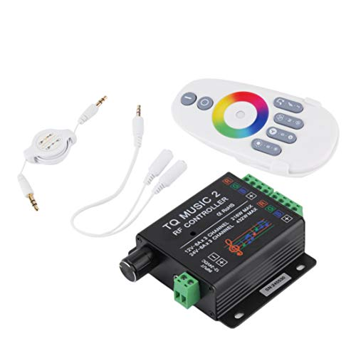 Baynne Sound Audio LED RGB RF Music Controller Touch Remote 2 Channel 12/24V 18A Store