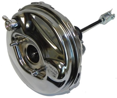 "(N-4-3) Compatible With 1964-72 GM A/F/X Body 9"" CHROME Power Brake Booster Hot Rod Street Disc Drum"