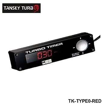 Turbo temporizador luz LED de alta calidad: Rojo, Blanco, Azul Todos Han Stock color predeterminado es rojo tk-type0-red: Amazon.es: Coche y moto