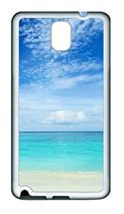 Samsung Galaxy Note 3 N9000 Case and Cover -Blue sea and white sand TPU Silicone Rubber Case Cover for Samsung Galaxy Note 3 N9000¨C White