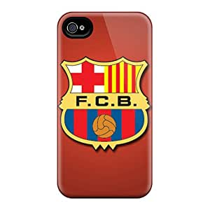 Fashion Tpu Case For Iphone 4/4s- Fc Barcelona Defender Case Cover