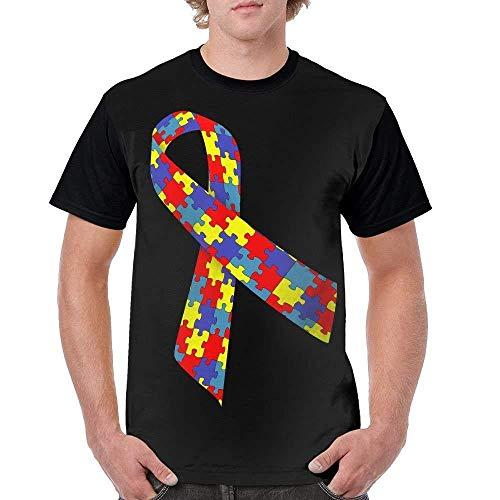 Male O Neck T Shirt T Shirts/Autism Awareness ()