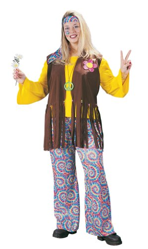 Chick Plus Costumes Hippie (Hippie Chick - Plus Size 1X/2X - Dress Size)