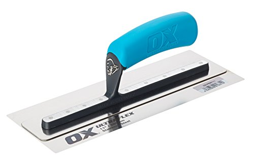 (Ox Pro UltraFlex Stainless Steel Finishing Trowel 11 inch / 280 x 110mm | Plasterer | Drywall | OX-P530111)
