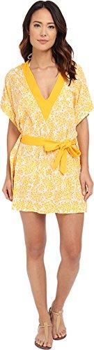 MICHAEL Michael Kors Women's Chilitington V-Neck Tunic Cover-Up Sunflower Swimsuit Top