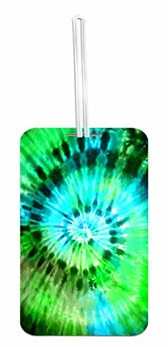 Green/Blue Tie Dye School Bag/Backpack ID Tag with Custom Back by Jacks Outlet (Image #2)
