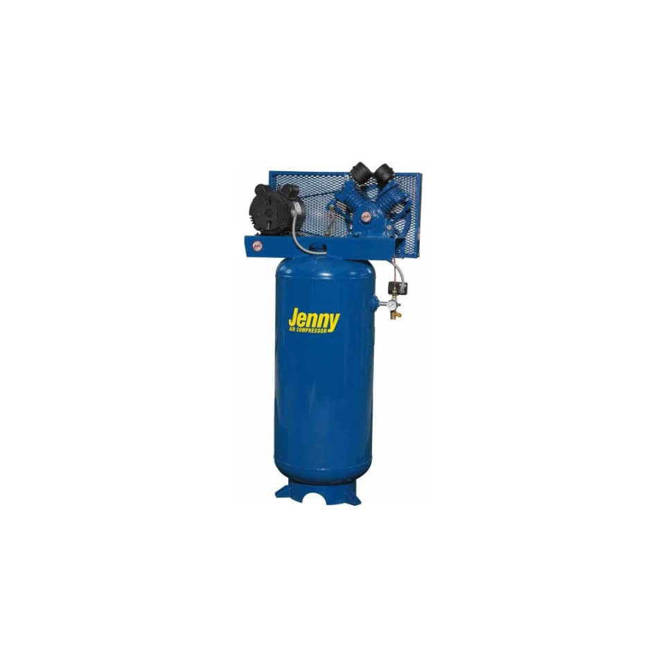 Jenny Compressors G5A 60V 115/1 5 HP 60 Gallon Tank 1 Phase 115 Volt, Vertical Electric Single Stage Stationary Compressor