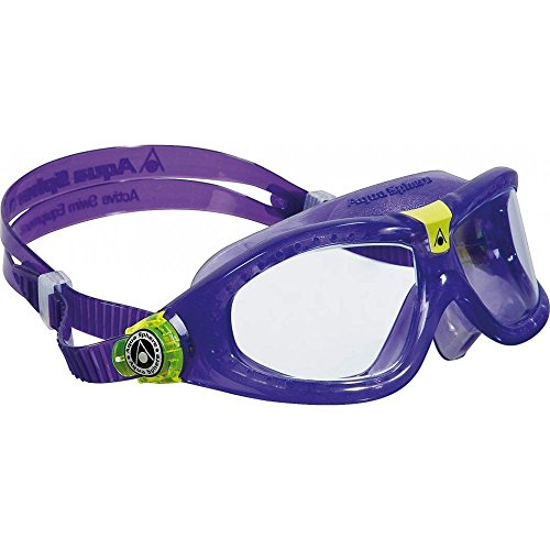 Aqua Sphere Seal Kid Swim Clear Lens Goggles, Violet