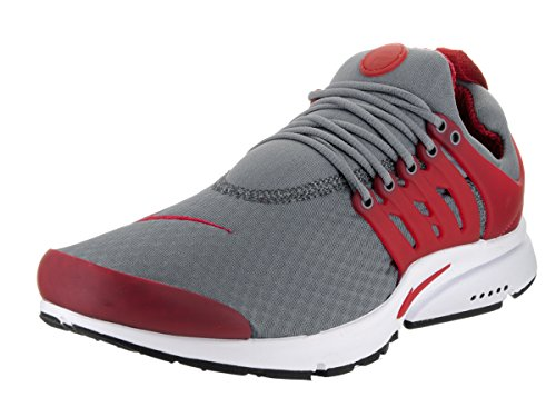 Nike Mens Air Presto Essential Cool Grey, Gym Red-white-black