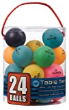 Halex 59123 Velocity 24-Count Tub of Table Tennis Balls, 1 Star (Multi-Color)