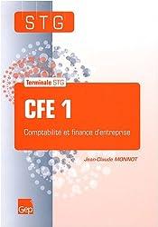 CFE 1 : Comptabilité et finance d'entreprise Tle STG