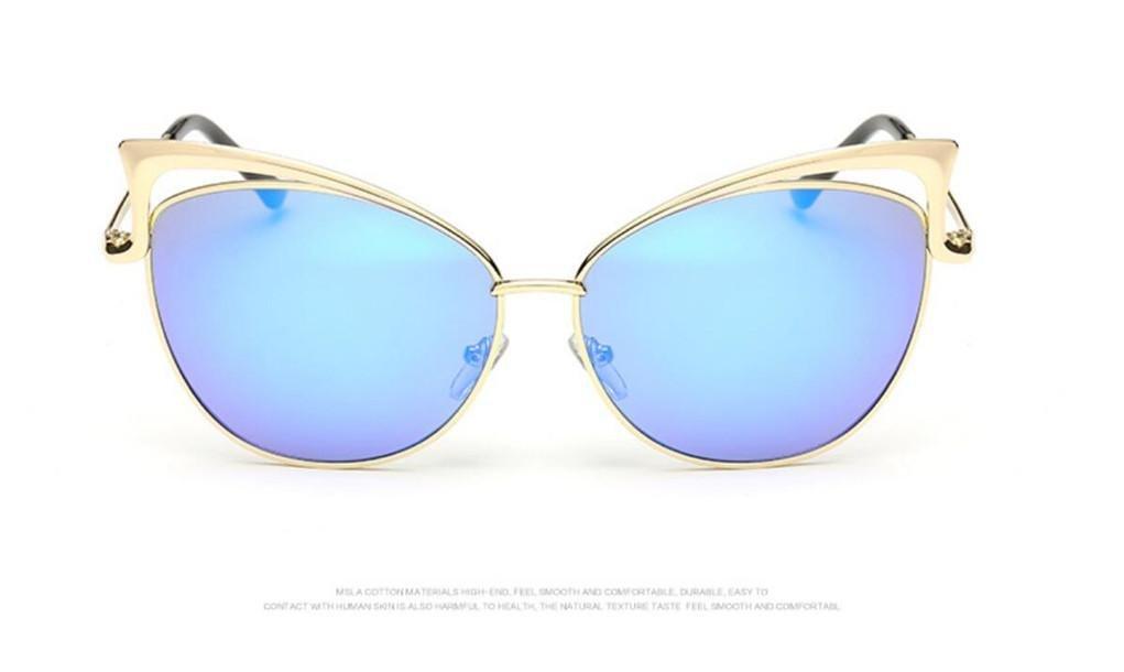 WANGMIN® Lunettes De Soleil Fashion Classic Brand Designer Lunettes De Soleil Vintage Twin Beam Metal Frame Glasses , C