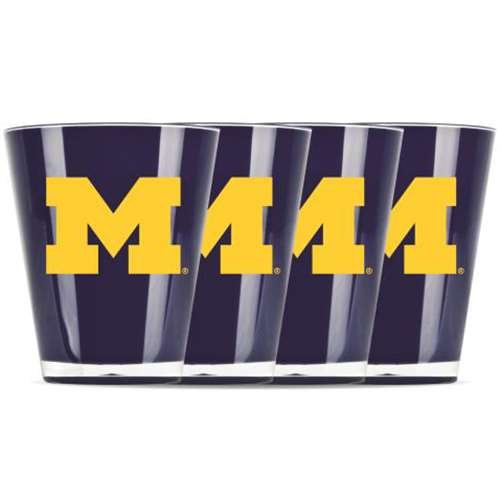 Duck House NCAA Univ of Michigan Insulated Mini Tumbler (4 Piece Set), One Size, Multicolor