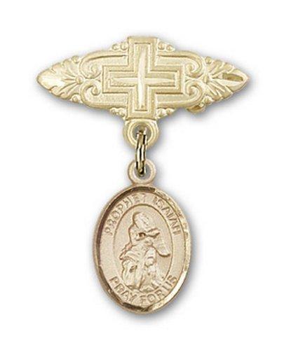 Icecarats Or Bijoux De Créateurs Rempli R. Isaiah Broche De Badge Charme Avec Une Croix X 3/4