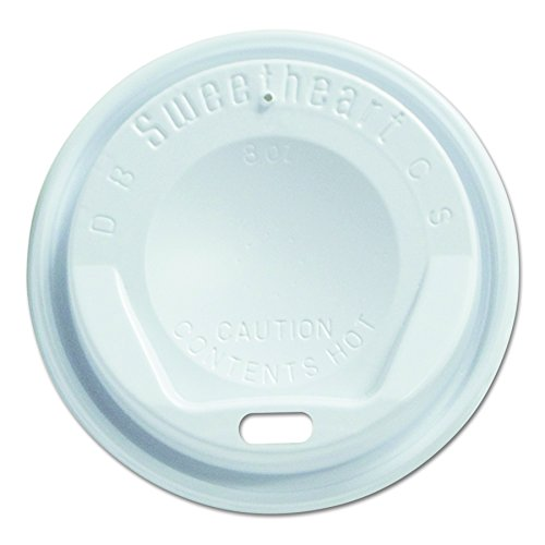 Solo LGX8R1-0007 White Plastic Gourmet Dome Lid - For Trophy Plus Cups (Case of 1000)