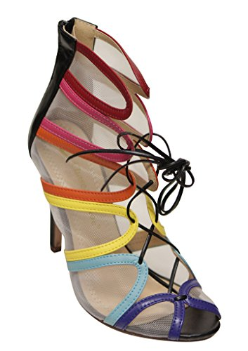 pumps high amp; zip Nina heel toe Chloe Chase 1 mesh Multi strappy up lace womens peep closure ZqRF4wB