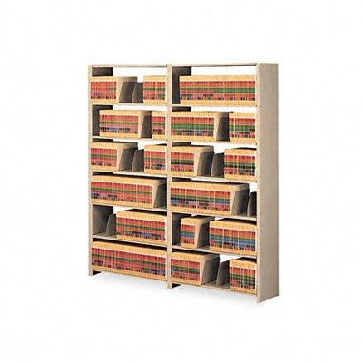 Wall Unit Starter Set - Snap-Together Steel Seven-Shelf Closed Starter Set, 36w x 12d x 88h, Sand