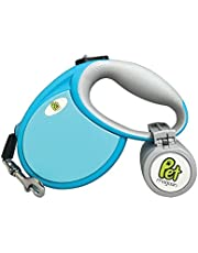 Retractable Dog Lead - Simple 1 Button Break & Lock Safety Function, Heavy Duty and Tangle Free Leash for Pets Up To 18KG, Extends Up To 4 Meters