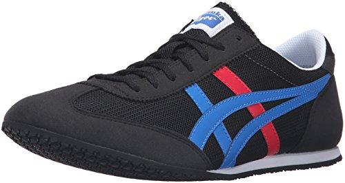 Onitsuka Tiger Machu Racer Fashion Sneaker, Black/Classic Blue, 6 M US