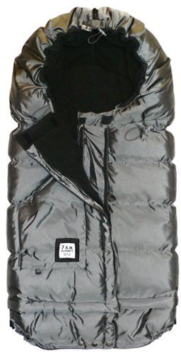 7 A.M. Enfant Blanket 212 Evolution Foot Muff - Metallic/Gray (Discontinued by Manufacturer) by 7A.M. Enfant by 7AM Enfant
