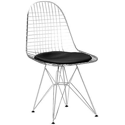 Plata Eiffel Wire Chair Black Set Of 4