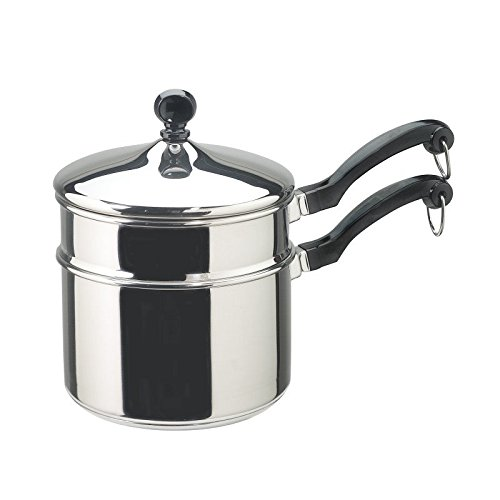 Pemberly Row Classic Stainless Steel 2qt Double Boiler