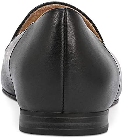 Naturalizer Womens Kit2 Leather Closed Toe Loafers, Black, Size 8.5  DavgWk