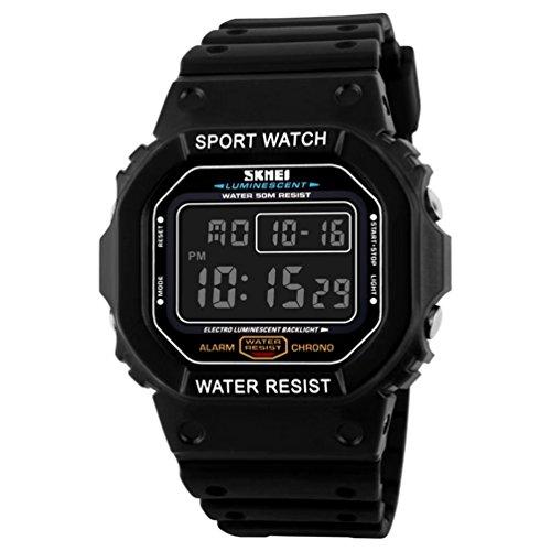 SKMEI S-Shock Sports Waterproof LED Digital Watch (Black) - 7