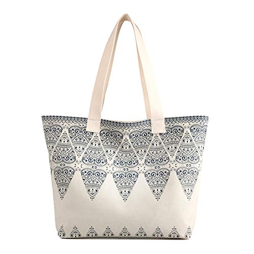 Bag Defeng Pouch Totes Shopper Women Top white Beach Bag Bags b118 for Off Shoulder Handbag Handle Canvas BqgrBPv