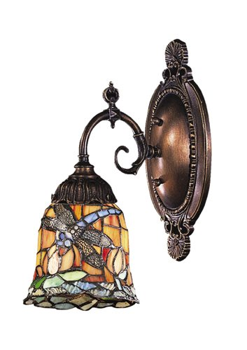 Elk 071-Tb-12 Dragonfly Mix-N-Match 1-Light Sconce, 10-Inch, Tiffany Bronze