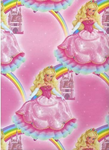 Pink Princess Heavy Gift Wrapping Paper - 24 In x 30 Ft Roll
