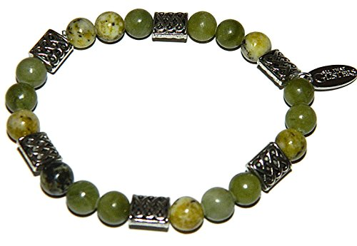 Irish Connemara Marble Celtic Beaded Bracelet - Irish Connemara Marble