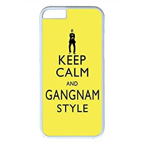 iCustomonline Keep Calm and Gangnam Style Designs White Hard Case Cover for iPhone 6 Plus