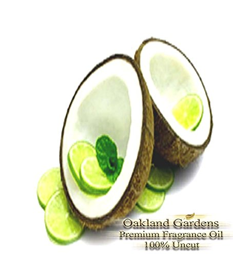 BULK Fragrance Oil - COCONUT LIME VERBENA TYPE Fragrance Oil - Harmonious blend of Coconut, Lime and aromatic Verbena will whisk you away to the tropical islands - By Oakland Gardens (030 mL - 1.0 fl oz Bottle)