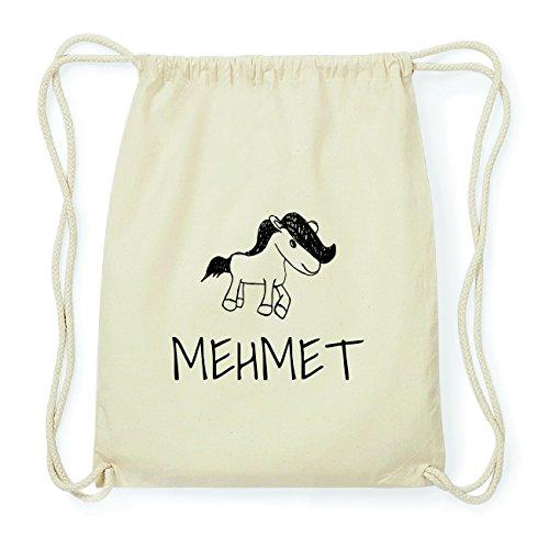 JOllipets MEHMET Hipster Turnbeutel Tasche Rucksack aus Baumwolle Design: Pony