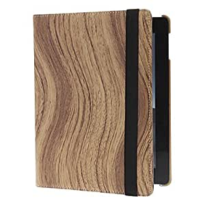 xiao Tint Tone S Shaped Wooden Grain 360 Degree Rotatable Full Body Case with Stand for iPad 2/3/4