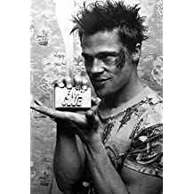 """Fight Club - Movie Poster (Brad Pitt with Soap) (Size: 24"""" x 36"""") (By POSTER STOP ONLINE)"""