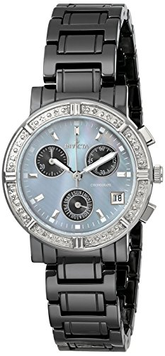 "Invicta Women's 0728 ""Ceramics Collection"" Diamond-Accented Watch with Ceramic Bracelet"