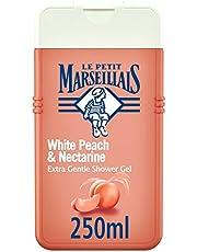 LE PETIT MARSEILLAIS، كريم استحمام، فائق اللطف، الخوخ الأبيض والنكتارين، 250 مل