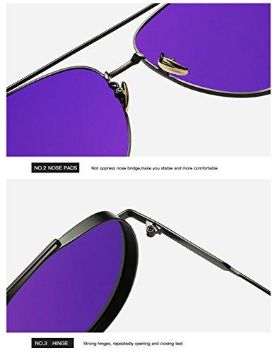 De Gafas Sol 400 Hombre para para UV C1 C2 Mujer Protección Polarizadas Aviator gddxwUqr