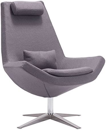 Zuo Bruges Occasional Chair, Charcoal Gray