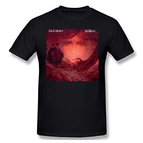 Joe Walsh The Confessor Comfortable Music Theme Classic Men's Short Sleeve T-Shirt L Black (T-shirt Walsh Classic)