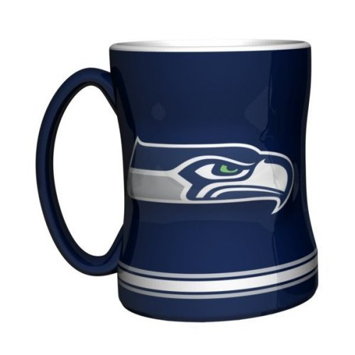 Nfl Ceramic Coffee (2015 NFL Football Coffee Mug - 14 ounce Ceramic Coffee Cup (Seahawks))