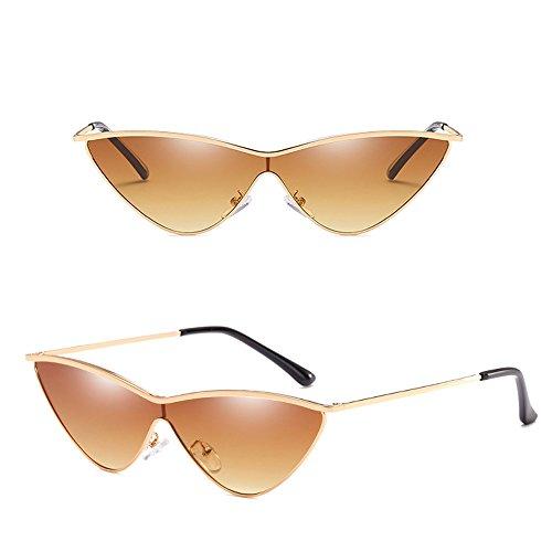 Or soleil de UV400 extérieures Cateye de Cadre fille la Lentille de lunettes de soleil de Lunettes de femmes Brown Dintang de mode avec protection q4ESRR